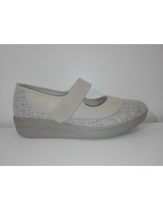 ZAPATILLA MUJER INDUSCAL VELCRO 9156-D